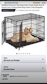 30 in dog crate