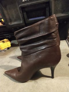 BCBG leather boots size 8