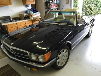 USED BLUE 1979 MERCEDES BENZ 450 SL CONVERTIBLE