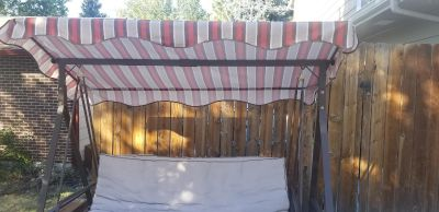 EUC Convertible yard swing with canopy.