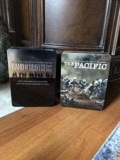 Band of Brothers + The Pacific DVD Sets in Metal Tin Cases