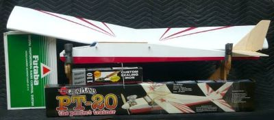 "52"" R/C Airplane w/4 Channel Controller Field Boxes etc"