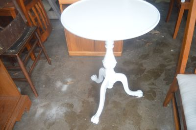 Solid Wood Vintage Table with Claw Feet