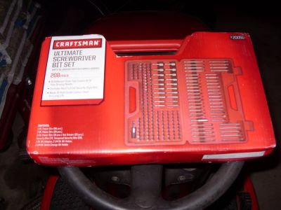 craftsman ultimate 208 pc screwdriver bit set