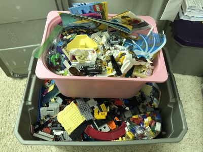 About 25 gallons of lego