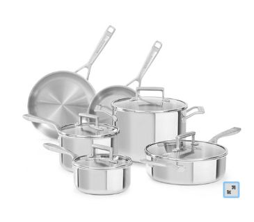 KitchenAid induction pot and pan set