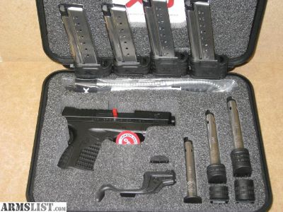 """For Sale: SPRINGFIELD XSs 9MM 3.3"""" WITH CRIMSON TRACE LASER HOLSTER & 7 MAGS"""