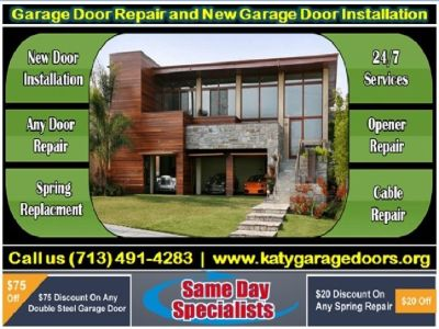 Top Garage Door Spring Repair ($25.95) Katy Houston, 77450 TX