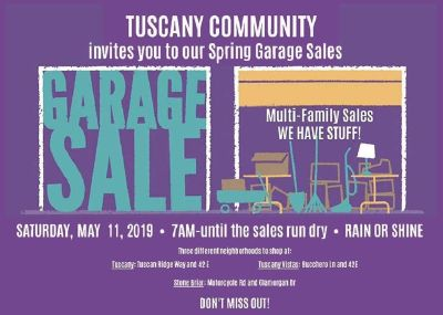 Multi Family Garage sales || Saturday, May 11, 7 am - until