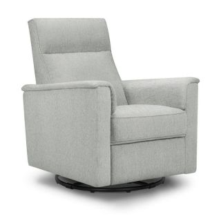 NEW Million Dollar Baby Classic Willa Swivel Recliner in Feathered Grey Weave