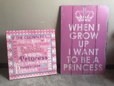 Girl wall picture