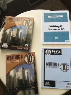 BJU Writing and Grammar- Student books, handouts and tests