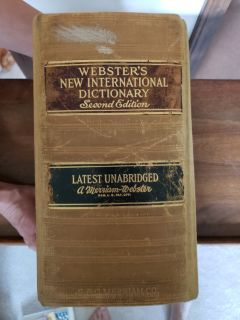 Vintage Miriam-Webster Hardcover Dictionary