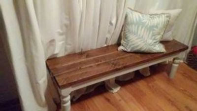 Handmade rustic farmhouse bench. Entryway/Kitchen table bench