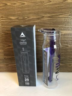 New! H2Go Delta Water Bottle! features A dynamic activated coconut filter!up to 25 Gallons!