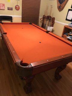 Craftmaster 3.5' x 7' Walnut Pool Table