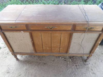 Sears Vintage Wood Record Player wstereo