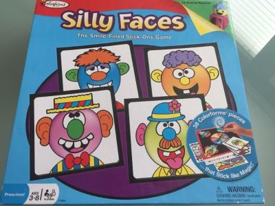Colorforms Silly Faces Stick On Game