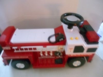 Tonka sound and lights ride on fire truck