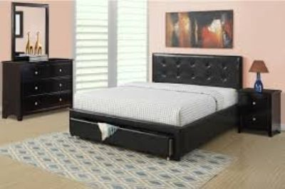 (Queen Bed with Mattress included!)