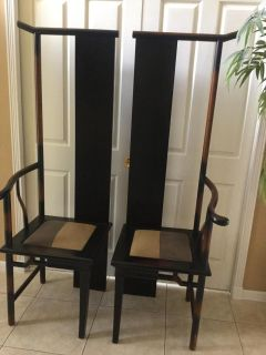 2 Elmwood Ming style chairs