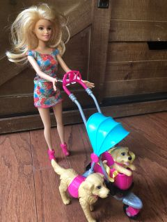 Barbie puppy stroller