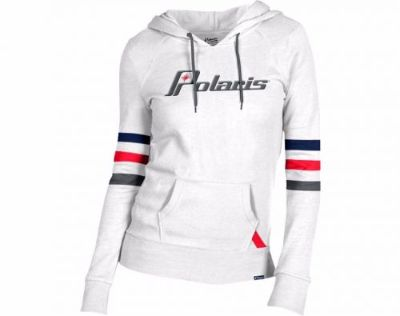 Find Polaris Women's Throwback Snowmobile Hoodie Color: White Size: Large 286509706 motorcycle in North Adams, Massachusetts, United States, for US $69.99