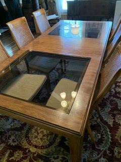 Drexel Heritage Mid Century Modern Dining Table with 6+ Chairs