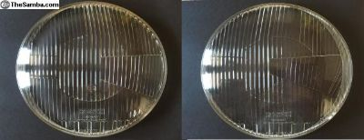 Pair Bosch fluted headlight lenses