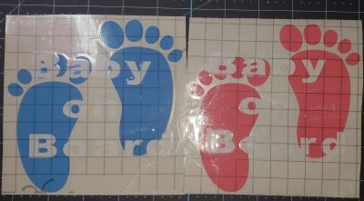 New baby on board car decals