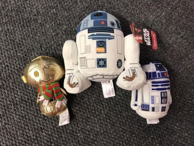 Star Wars plush one makes noise other two are itty bitty