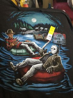 Friday the 13th Jason and Freddy rafting new XL 46-48 new Unisex