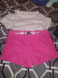 Outfit. Shorts are size 12 in girls. Shirt is S.