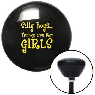 Buy Yellow Silly Boys...Trucks Are For Girls Black Retro Shift Knob street rod motorcycle in Portland, Oregon, United States, for US $27.97