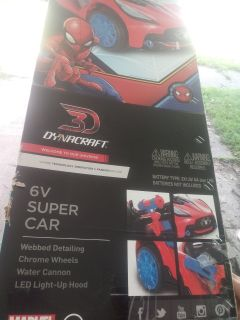 Spider-Man 6V super car Brand New/Never Opened