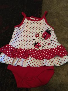 Baby essentials 6m ladybug romper - ppu (near old chemstrand & 29) or PU @ the Marcus Pointe Thrift Store (on W st)