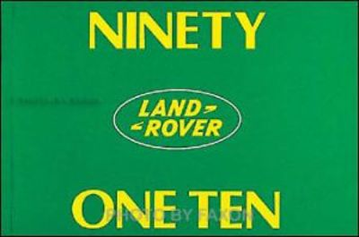 Purchase Land Rover 90 110 Owner Manual Defender 1983 1984 1985 1986 1987 1988 1989 1990 motorcycle in Riverside, California, United States, for US $29.00