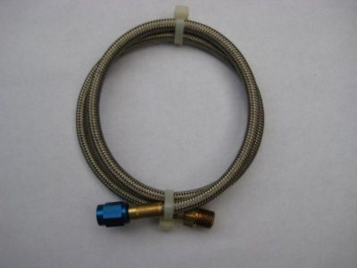 "Purchase NOS/NITROUS/NX/ZEX/HOLLEY/ 2 FT. 24"" X 1/8""NPT X 3AN LINE/HOSE BLUE #15060 NEW! motorcycle in North Attleboro, Massachusetts, US, for US $11.99"