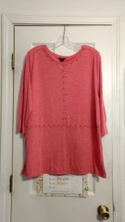 EUC, cotton-top by Simply Emma. Size 1X. Asking $3.00