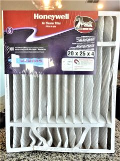 HONEYWELL PLEATED AIR CLEANER FILTERS 20 X 25 X 4 (2-pack)