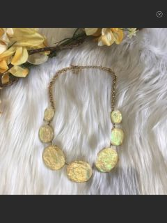Iridescent Yellow & Gold Necklace