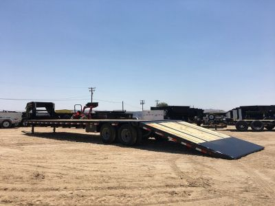 40ft Low Pro Flatdeck Trailer,  Flatbed Trailer with Hydraulic Dovetail, PJ Gooseneck Trailer LY402