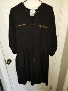 Black dress with tags