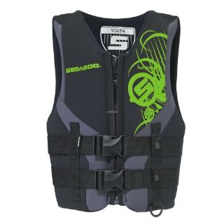 Purchase Sea-Doo Junior Neoprene Freewave PFD- Life Jacket Vest -Green motorcycle in Sauk Centre, Minnesota, United States, for US $34.99