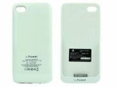 White 2200mAh External Power Pack Backup Battery Charger FOR 4G 4S LAS