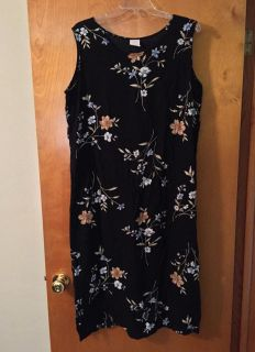 Womens dress black with print, rayon, light weight
