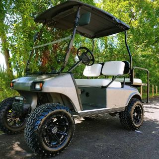 Club Car 48v Four Passenger with textured Graphite Gray Body