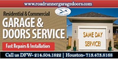 Road Runner Garage Door Repair Service in Dallas Starting @ $26.95