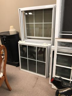 Double hung windows with screens $75 each