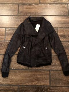 Apricot Lane ride your heart out moto jacket